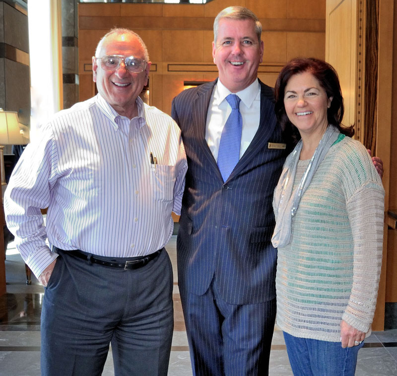 Gerald Small of the Ritz-Carlton Hotel Company with Herb and Karen Cares